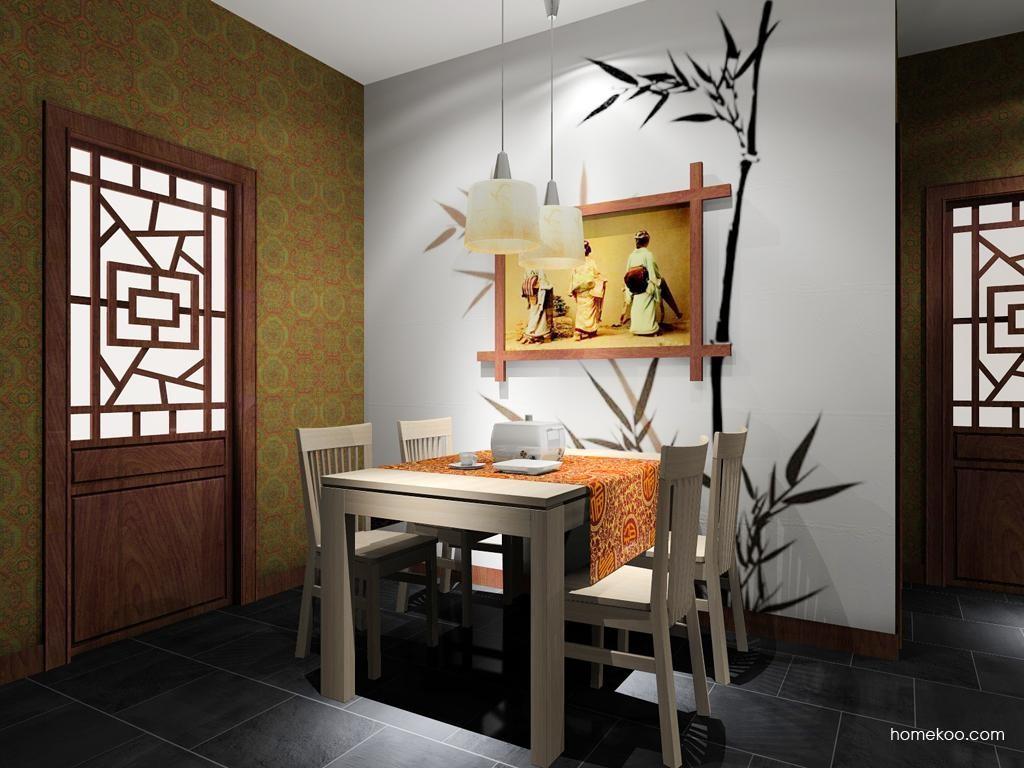 新中式主义餐厅家具E8013