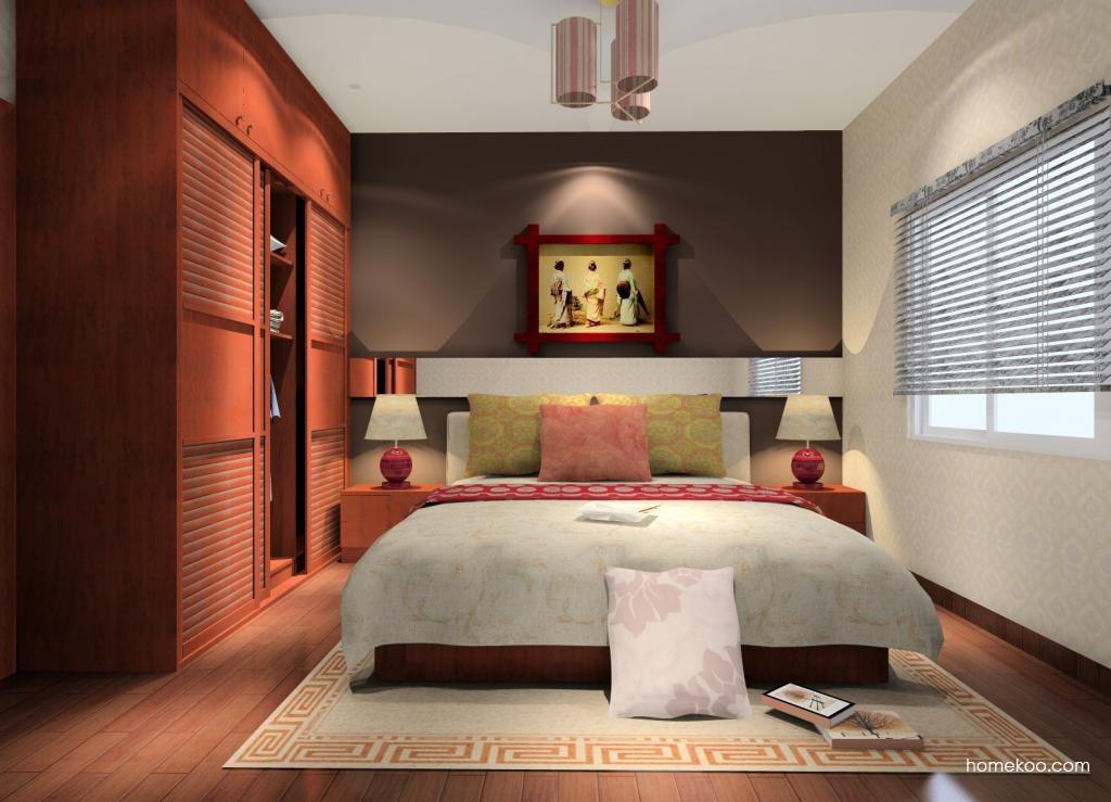 新中式主义卧房家具A9591