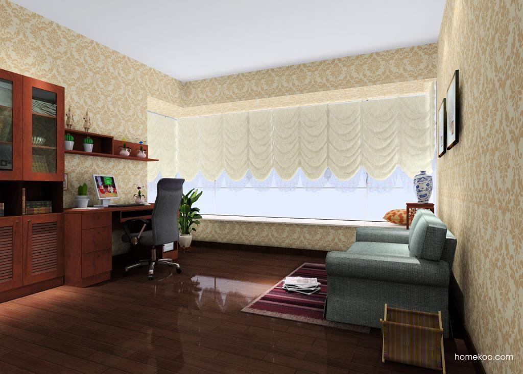 新中式主义书房家具C9356