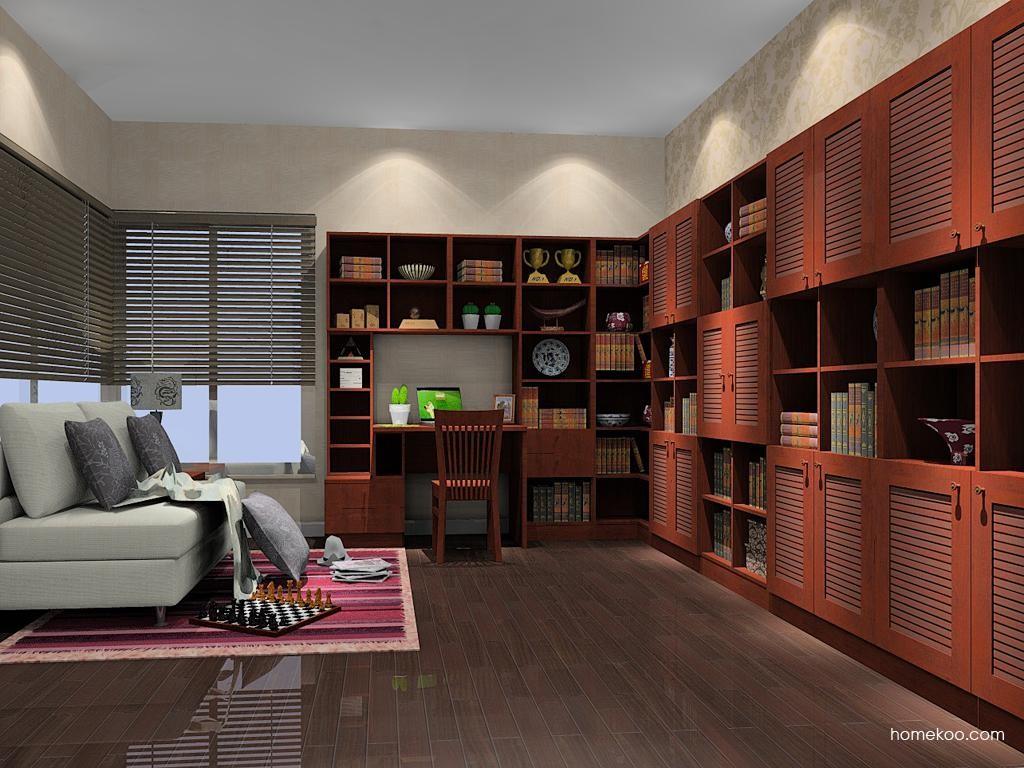 新中式主义书房家具C9379