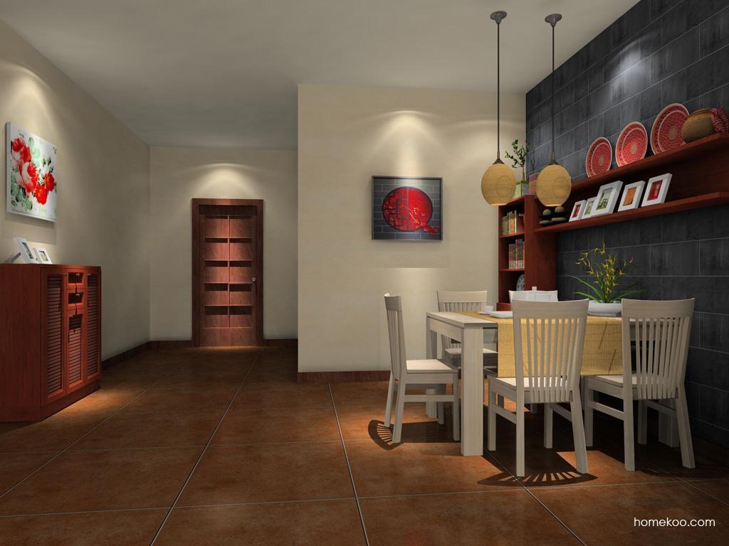 新中式主义餐厅家具E8210