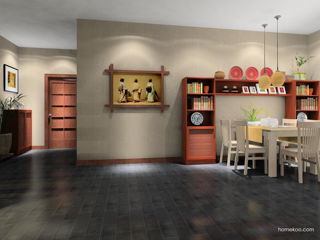 新中式主义餐厅家具E8227