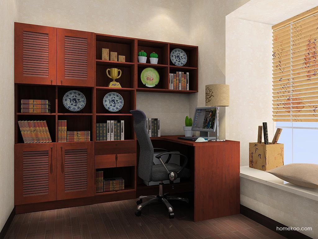 新中式主义书房家具C9416