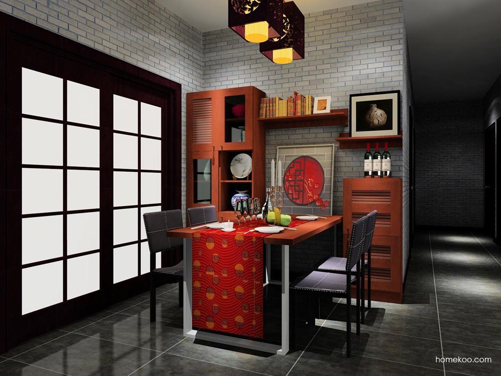 新中式主义餐厅家具E8446