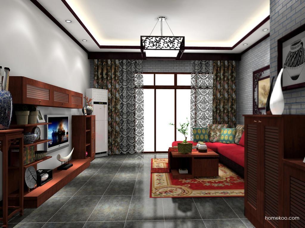 新中式主义客厅家具D8523