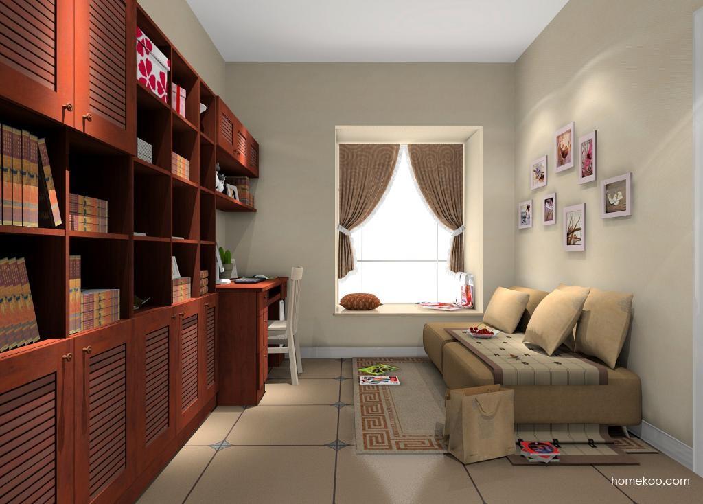 新中式主义书房家具C10425