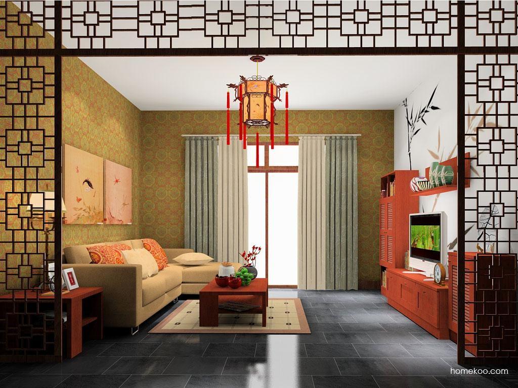 新中式主义客厅家具D8572