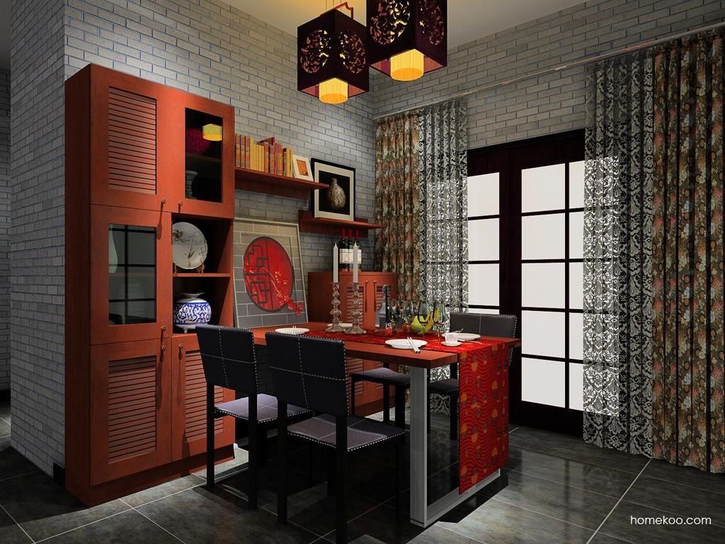 新中式主义餐厅家具E8556