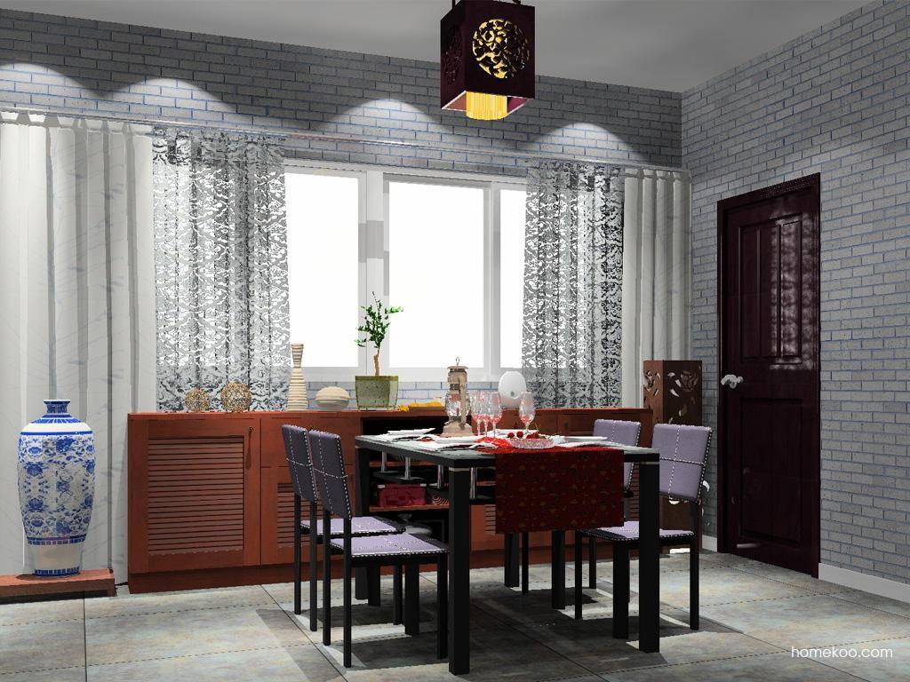新中式主义餐厅家具E8579