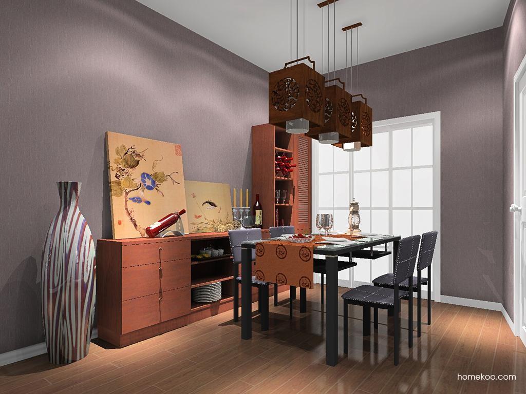新中式主义餐厅家具E8612
