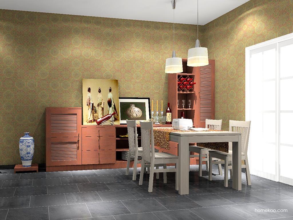 新中式主义餐厅家具E8638