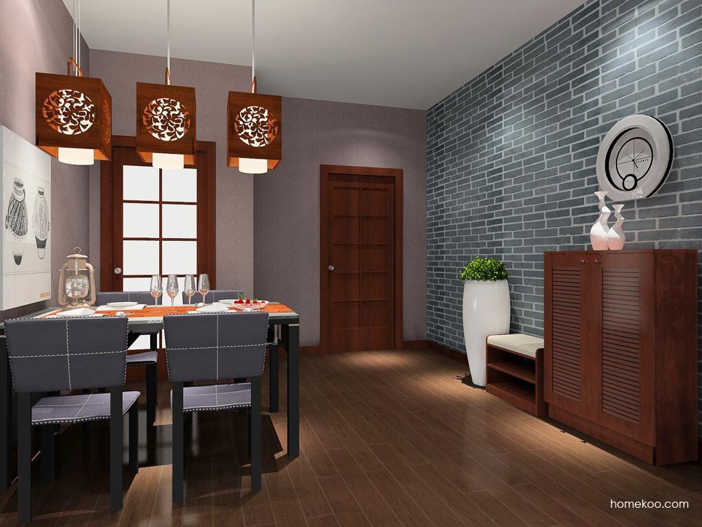 新中式主义餐厅家具E8929