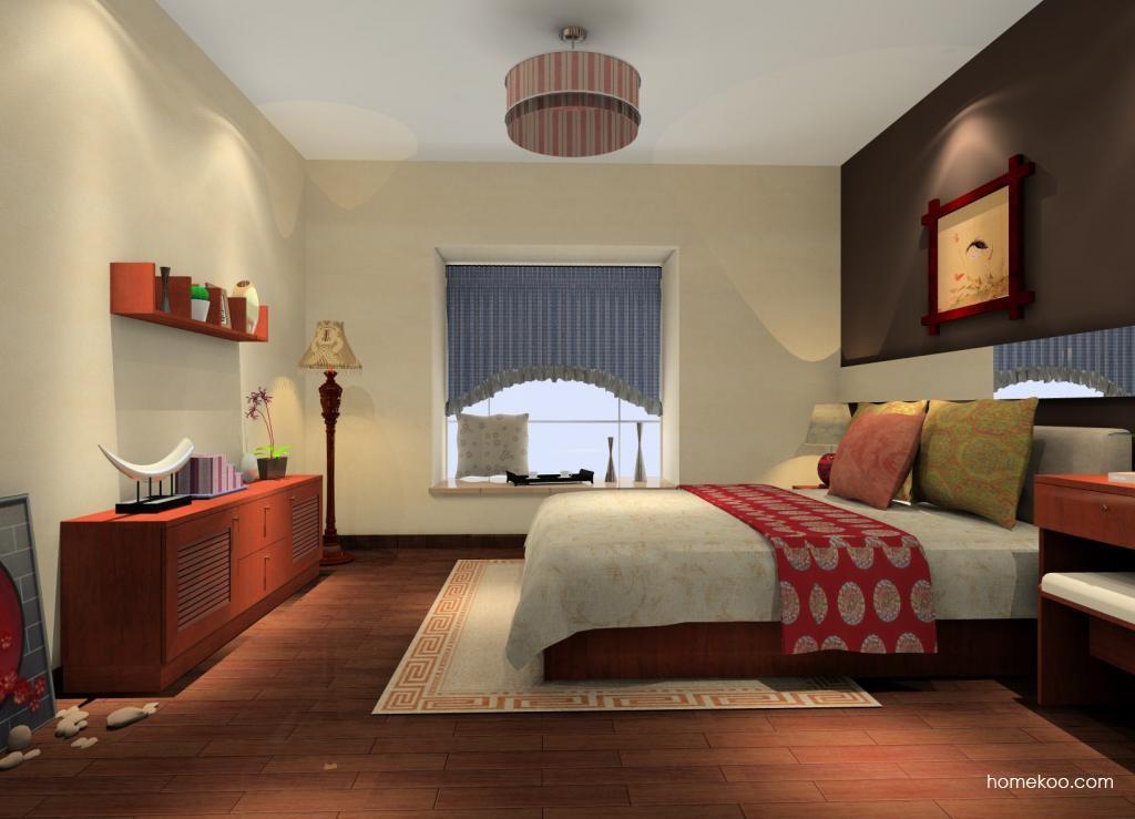 新中式主义卧房家具A12336