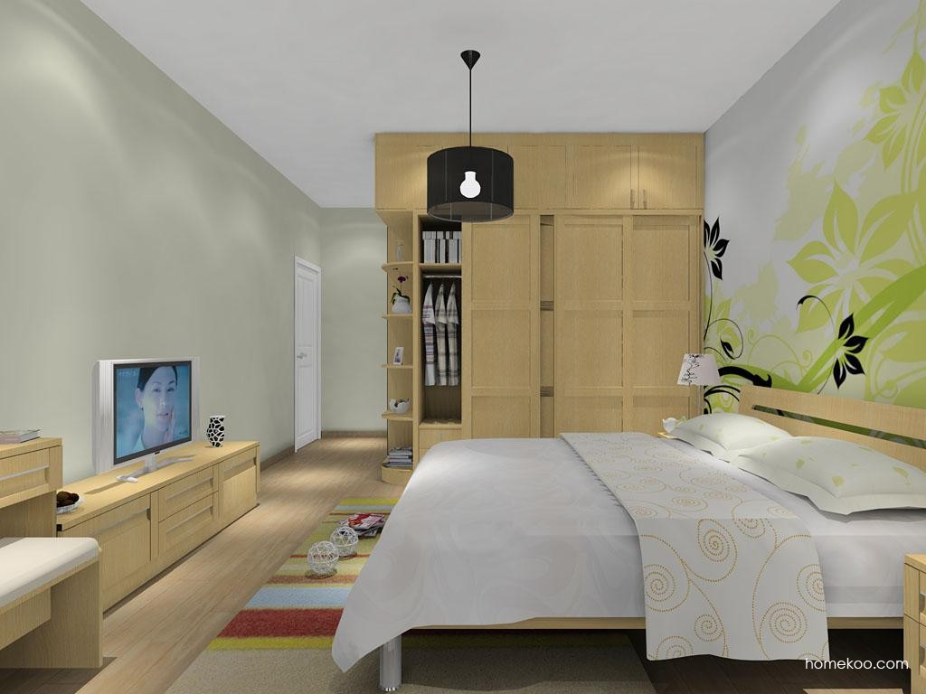 丹麦本色卧房家具A12487