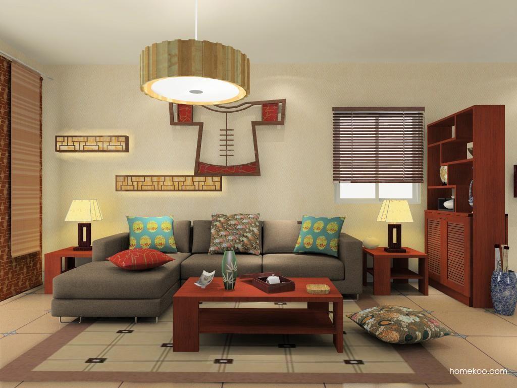 新中式主义客厅家具D11982