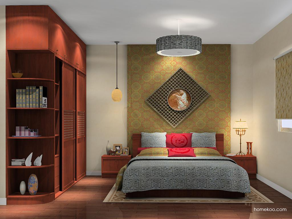 新中式主义卧房家具A14214