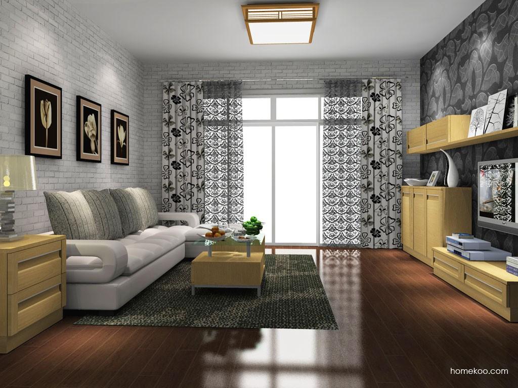 丹麦本色客厅家具D14035