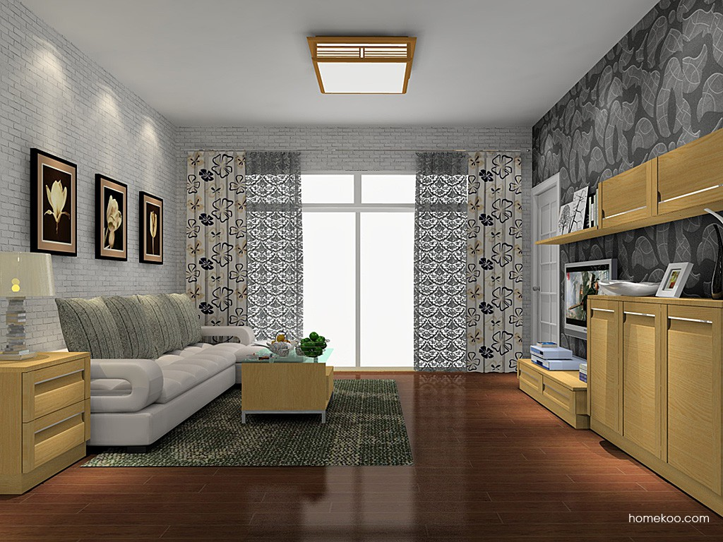 丹麦本色客厅家具D14045