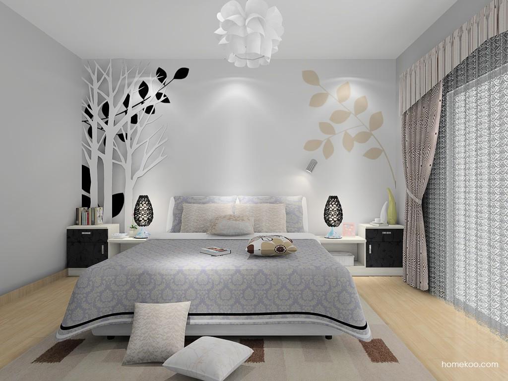 米兰剪影卧房家具A14880