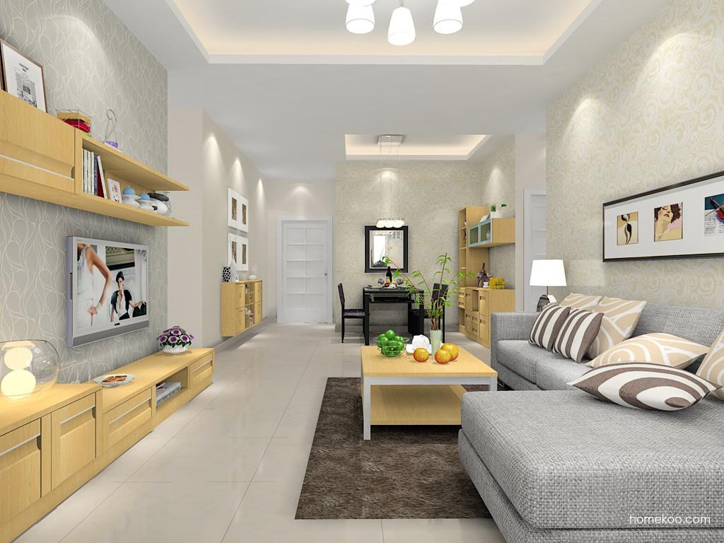 丹麦本色客厅家具D14402