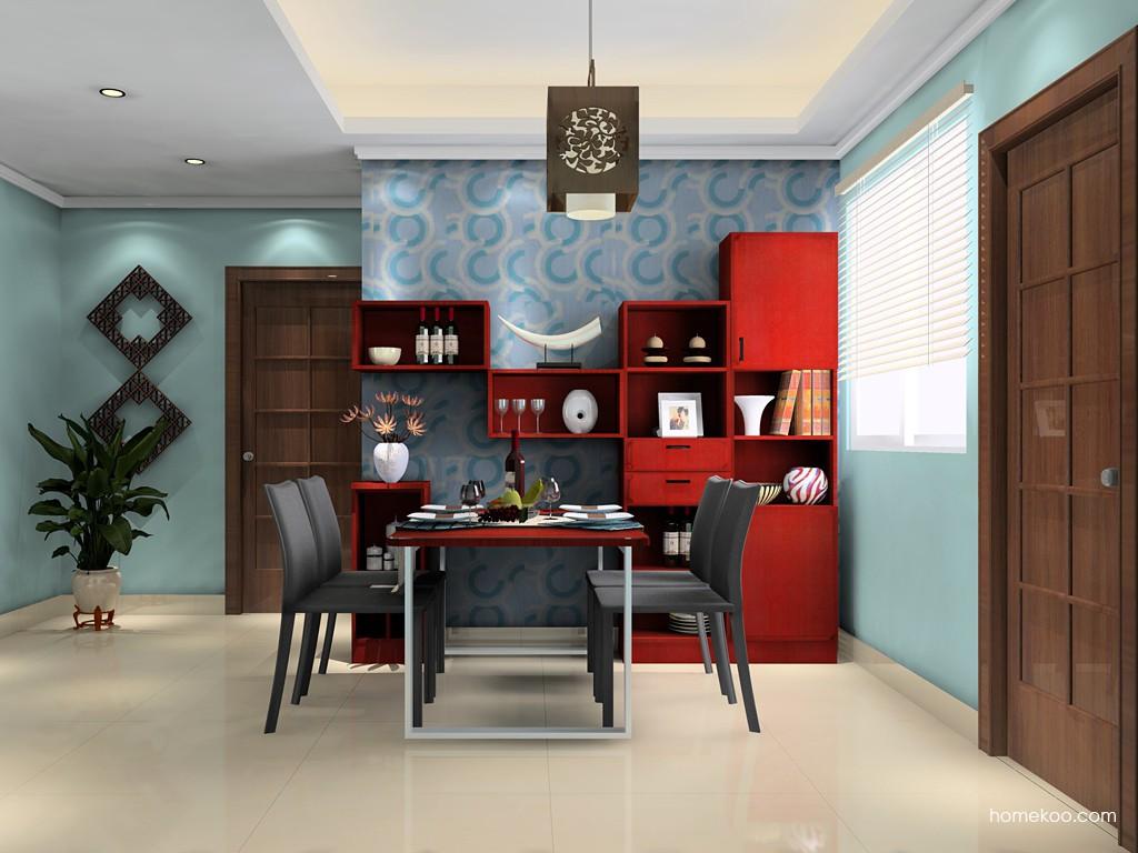 新中式主义餐厅家具E14709