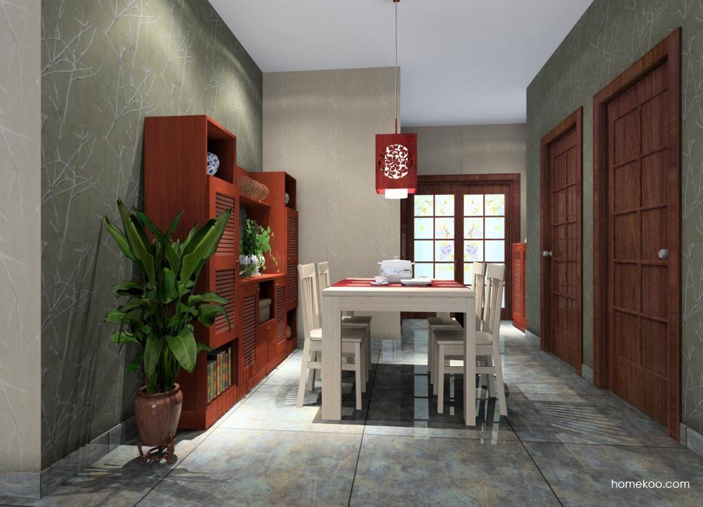新中式主义餐厅家具E1380