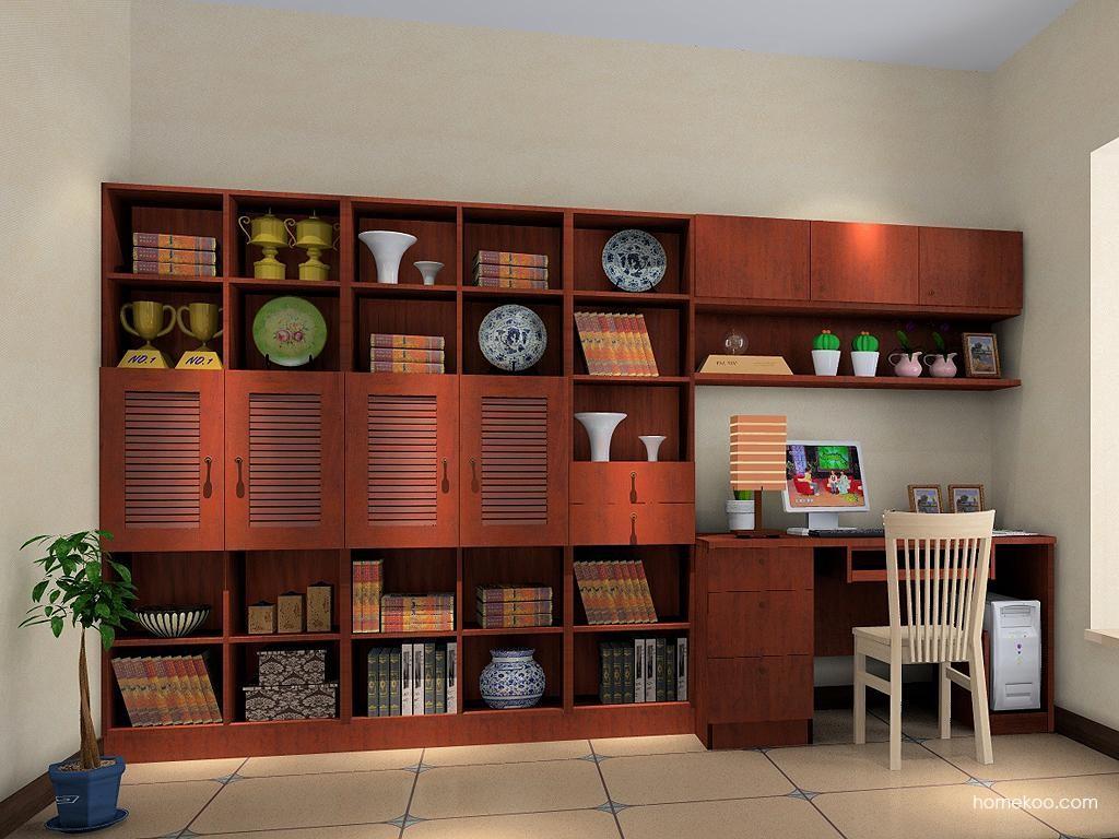 新中式主义书房家具C4044