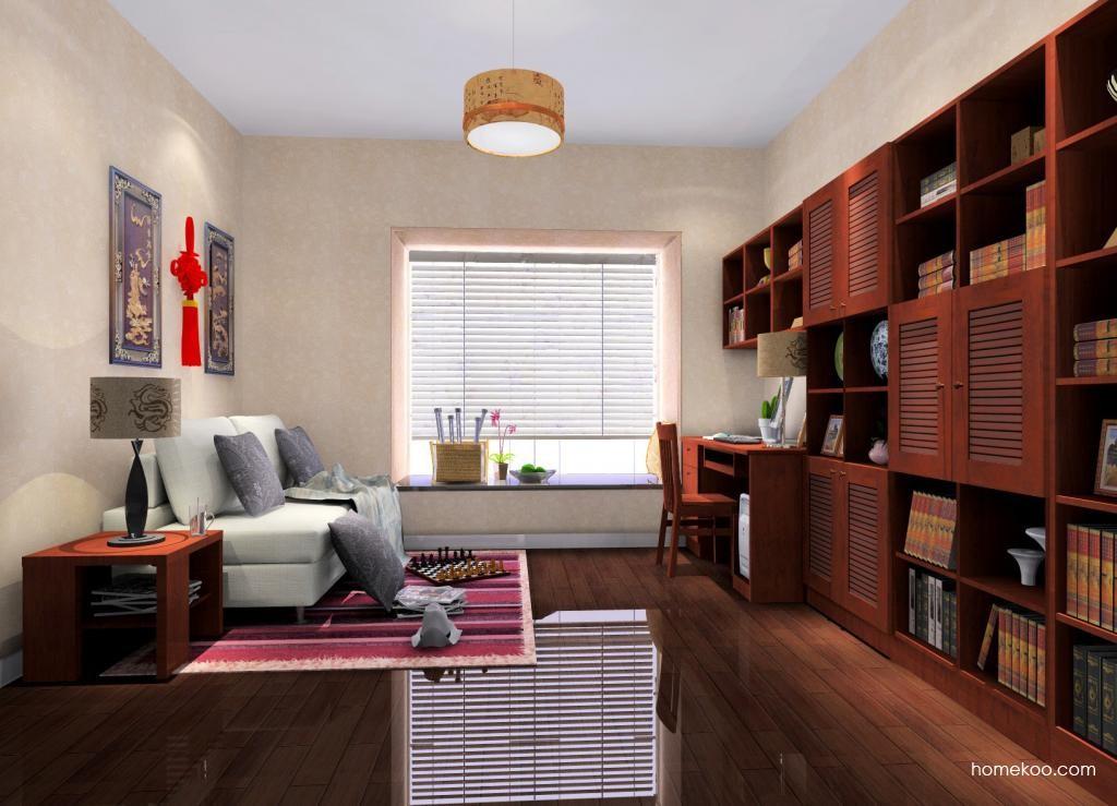 新中式主义书房家具C4077