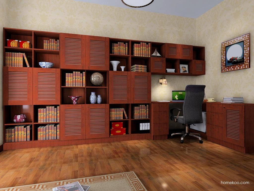 新中式主义书房家具C4136