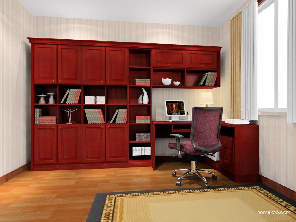 诺曼红影书房家具C4188