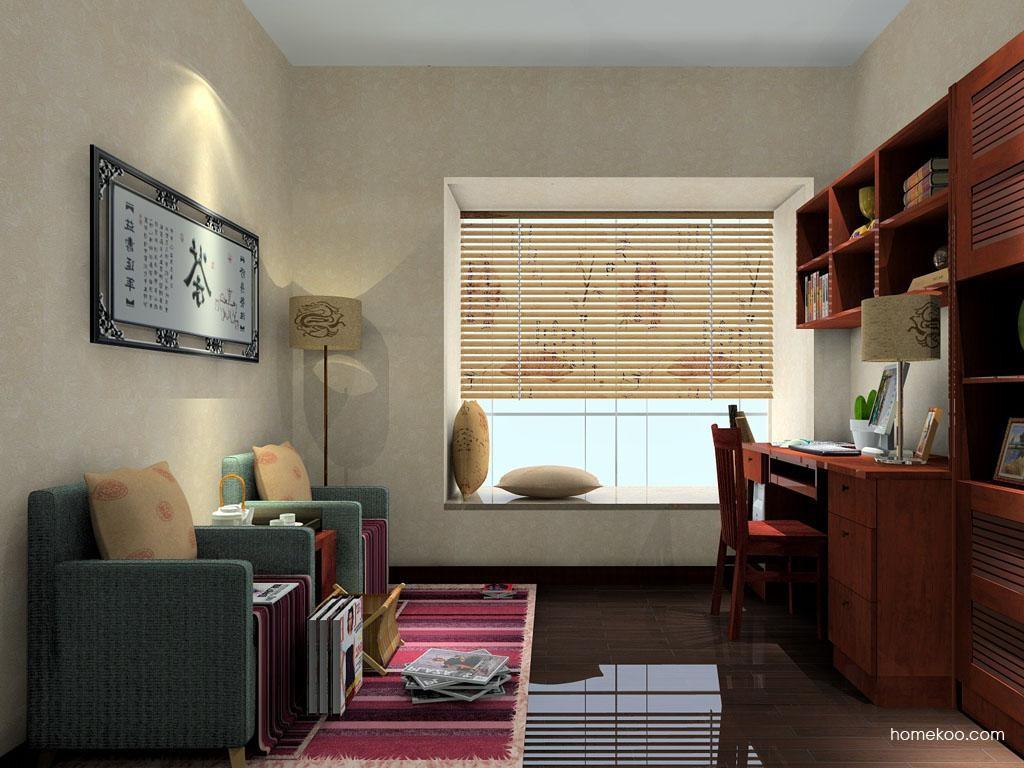新中式主义书房家具C4209