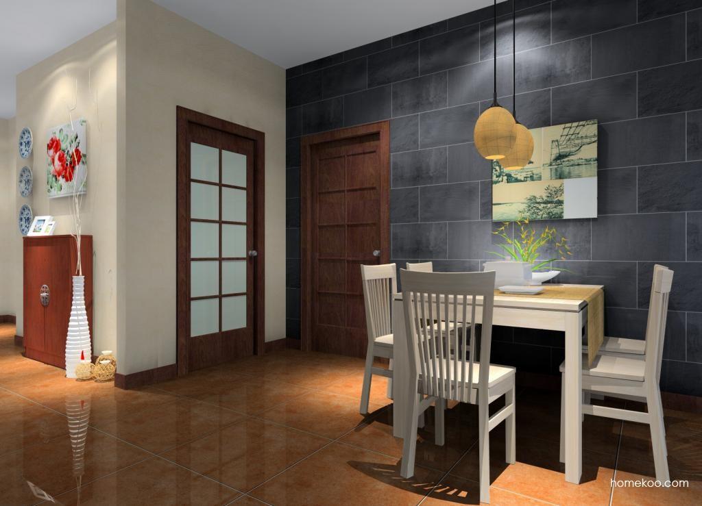 新中式主义餐厅家具E1702