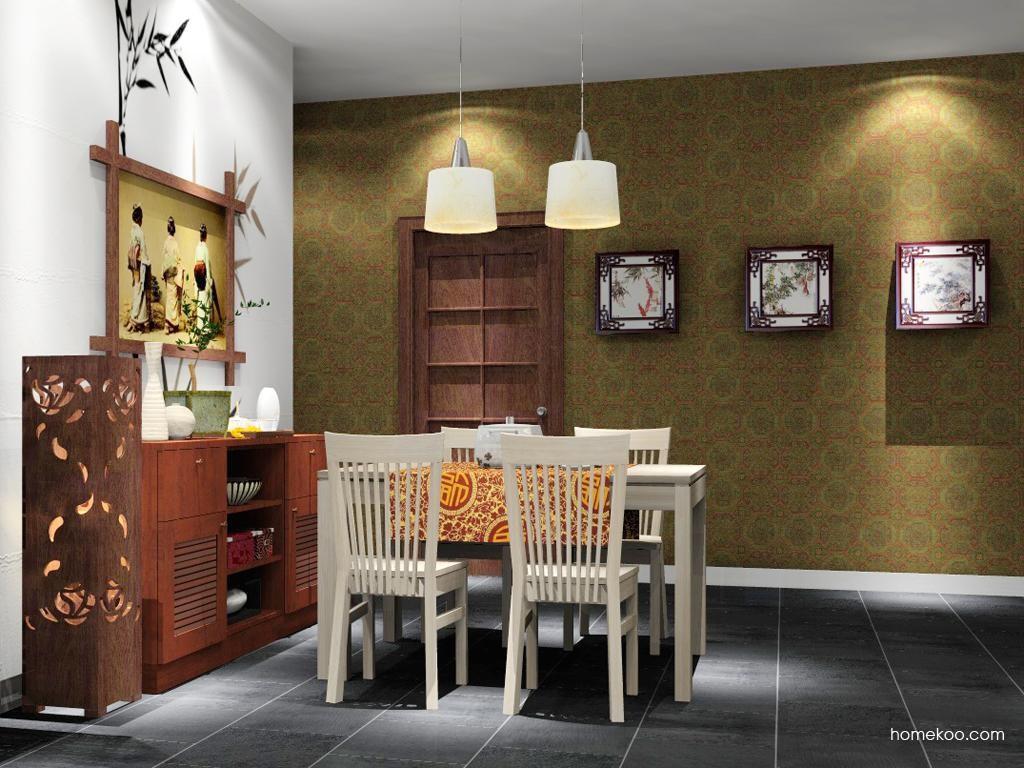 新中式主义餐厅家具E1785