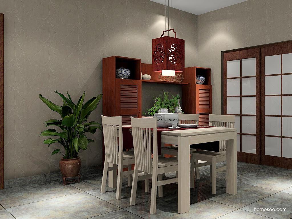 新中式主义餐厅家具E1789