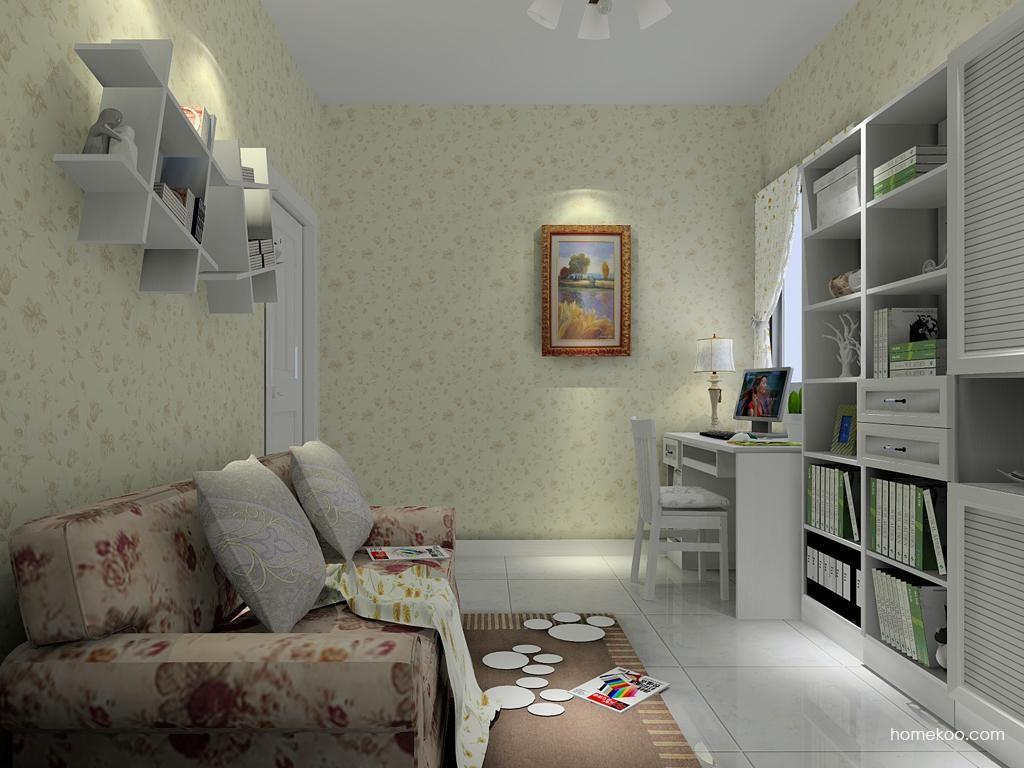 韩式田园书房家具C4421