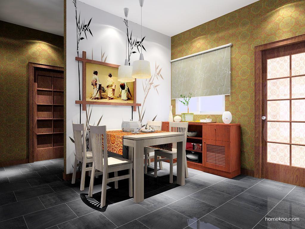 新中式主义餐厅家具E1952