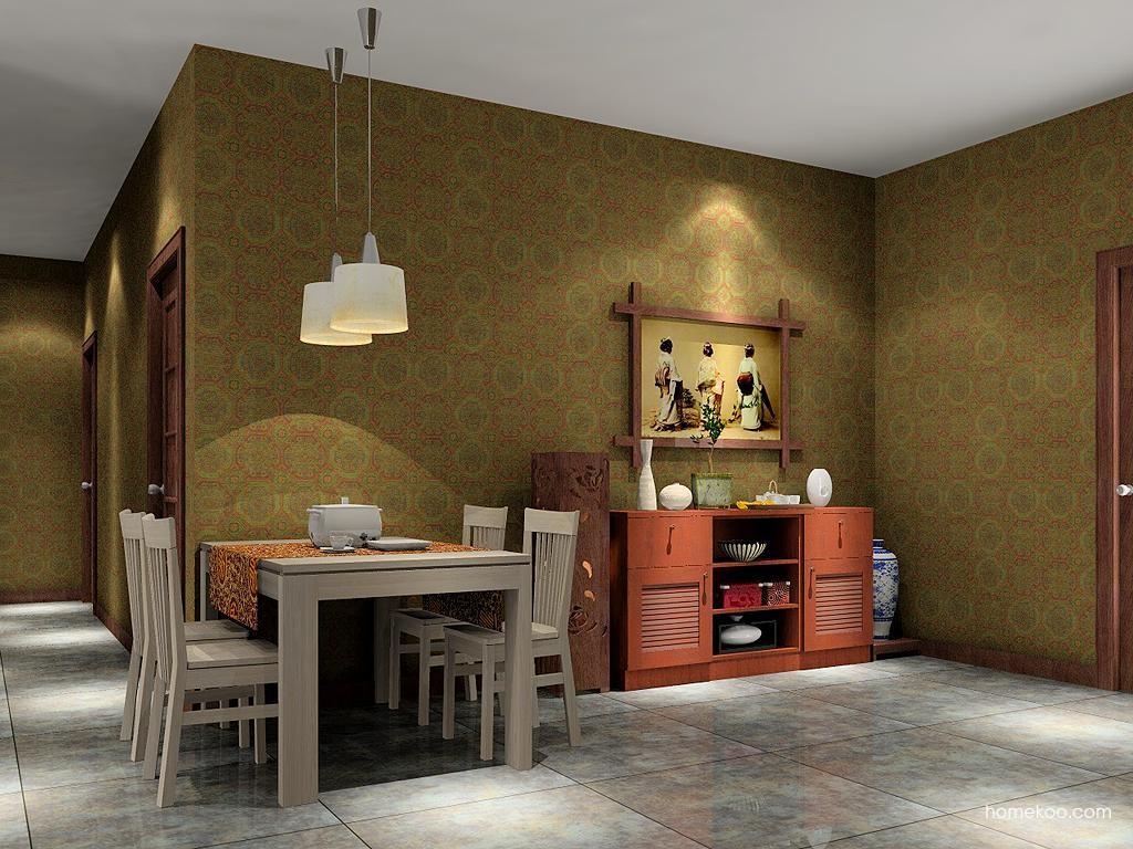 新中式主义餐厅家具E1987