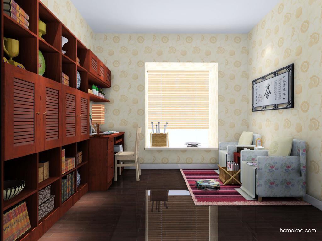 新中式主义书房家具C4510
