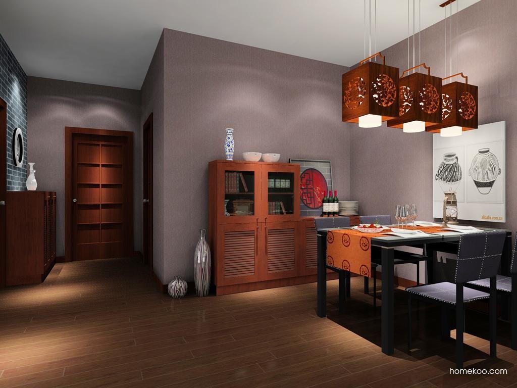 新中式主义餐厅家具E2059