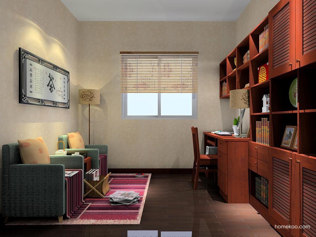 新中式主义书房家具C4597