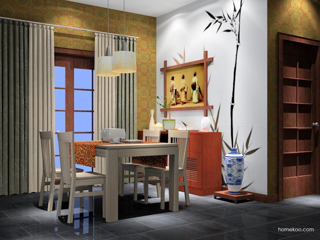 新中式主义餐厅家具E2146
