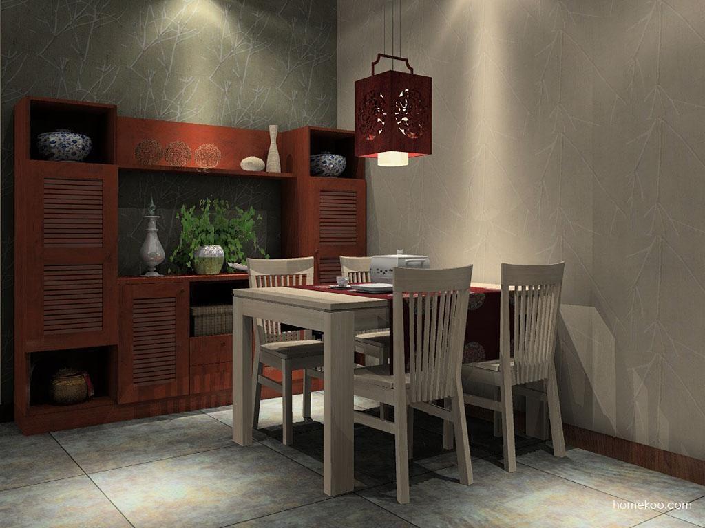 新中式主义餐厅家具E2226