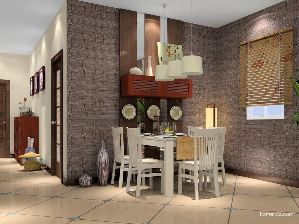新中式主义餐厅家具E2239