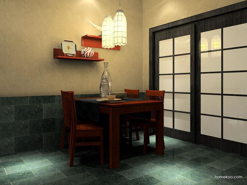 新中式主义餐厅家具E2241