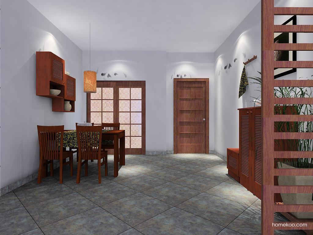 新中式主义餐厅家具E4599