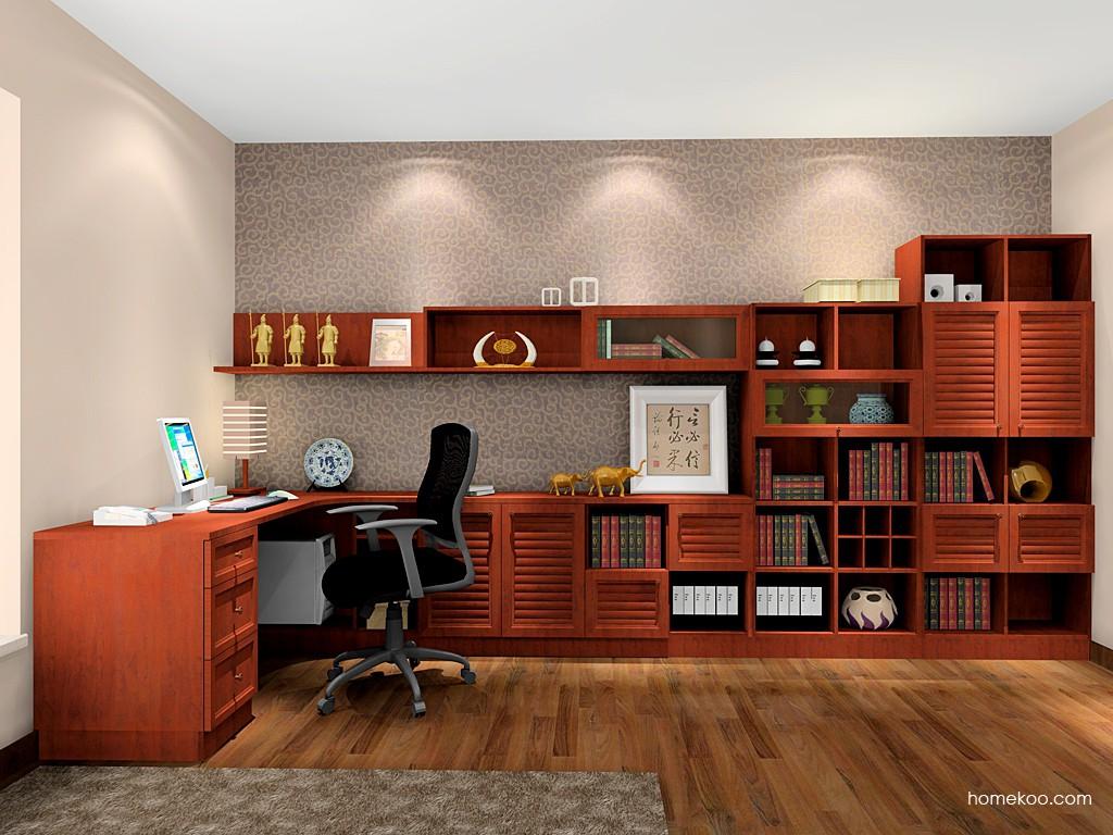 新中式主义书房家具C7909
