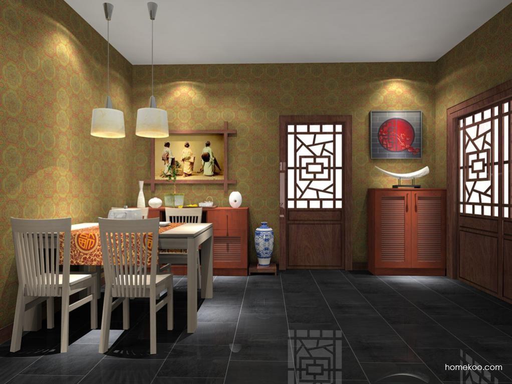 新中式主义餐厅家具E7660