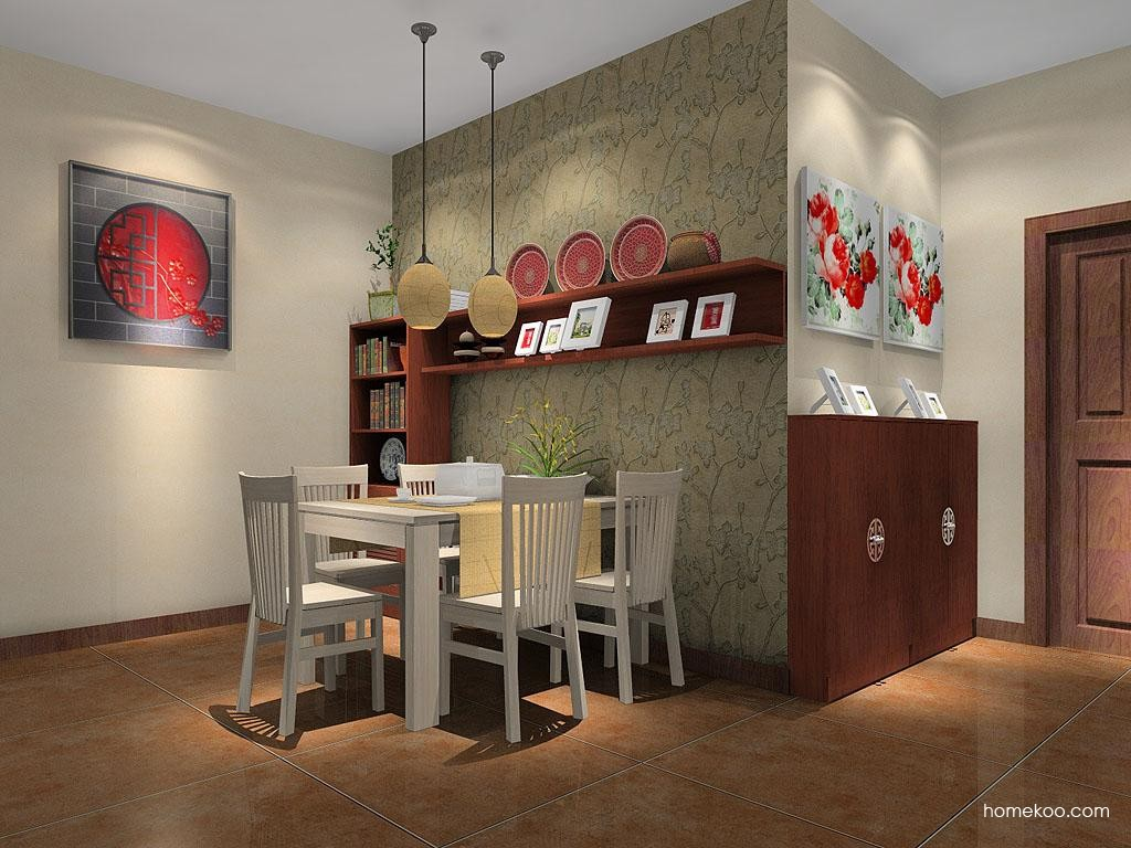 新中式主义餐厅家具E7678
