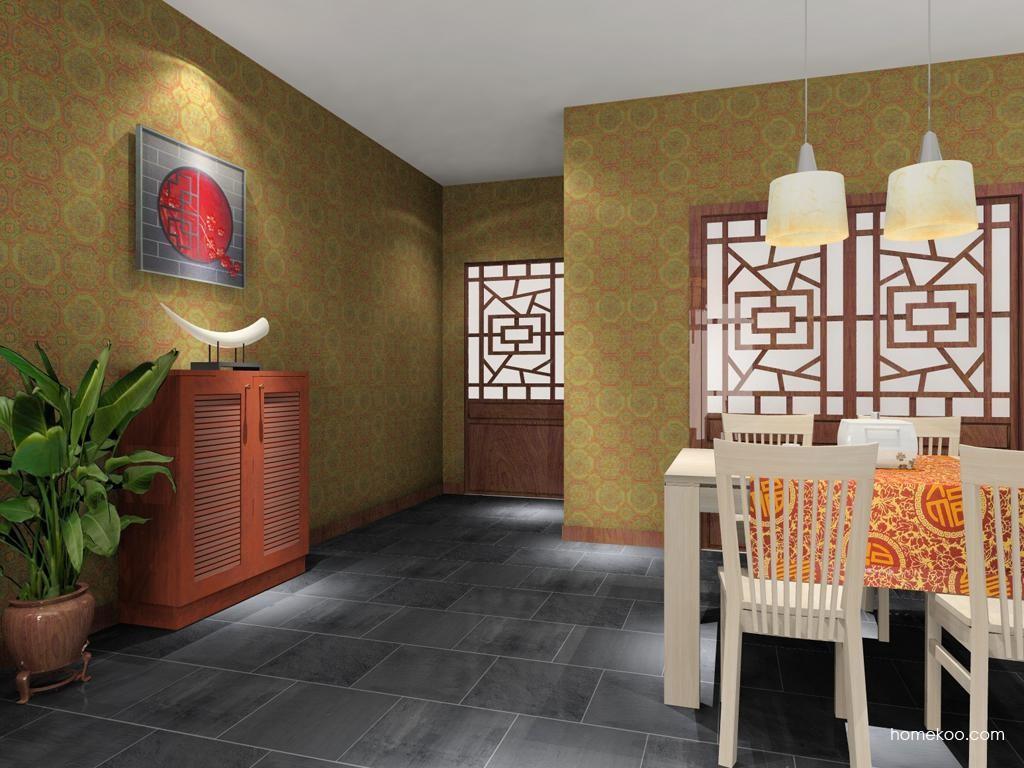 新中式主义餐厅家具E7889