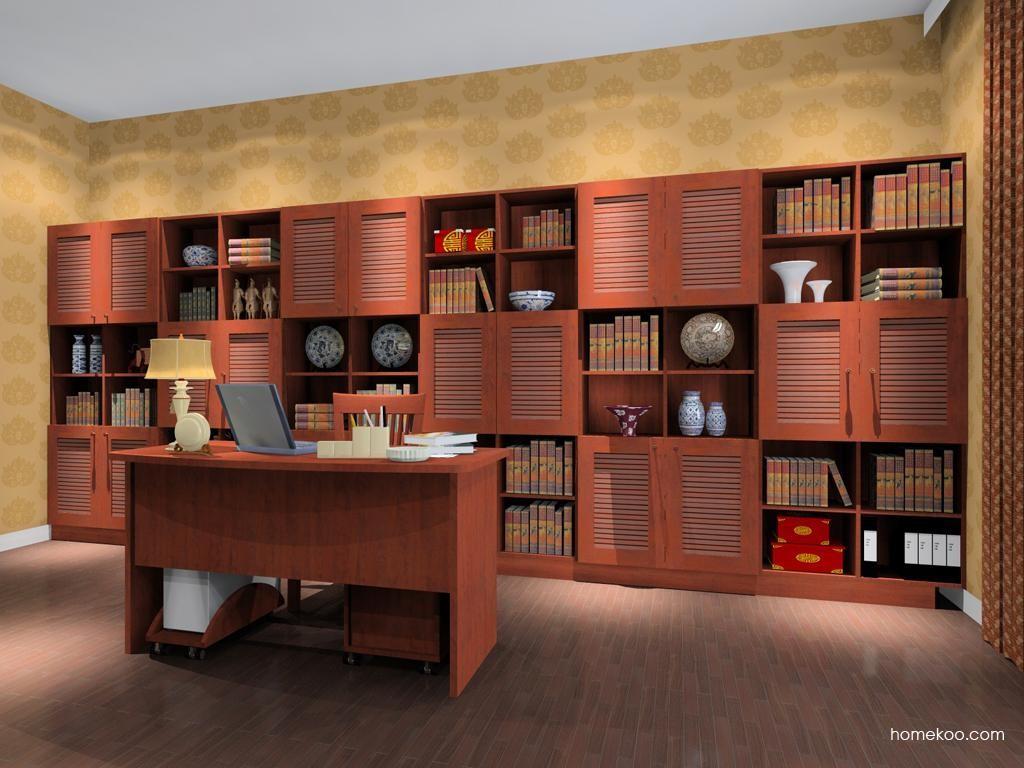新中式主义书房家具C8290